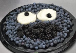 Cookie Monster Fruit Tray