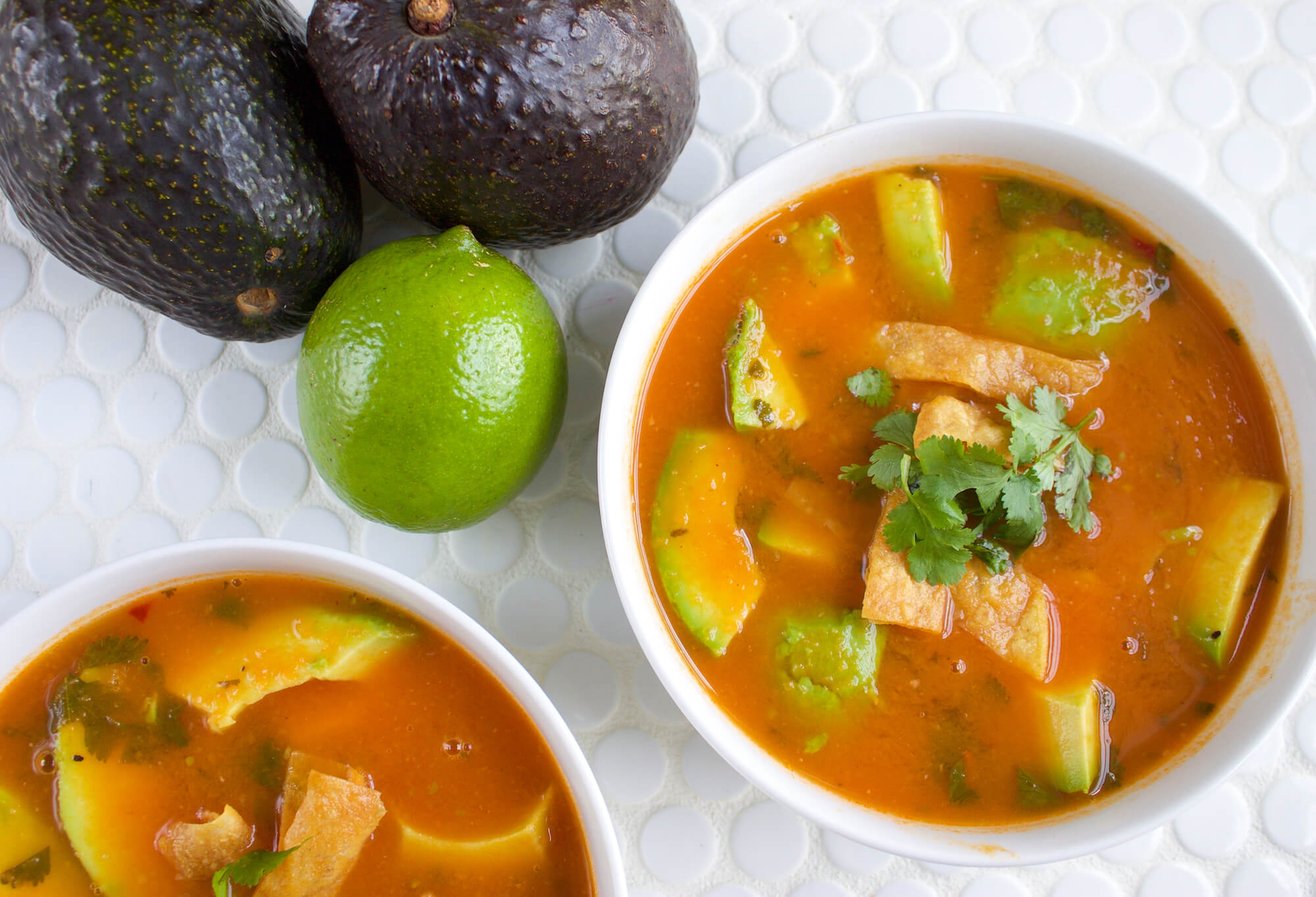 Avocado and Tortilla Soup