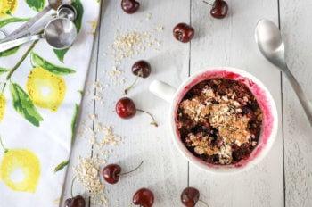 Microwave Cherry Cobbler