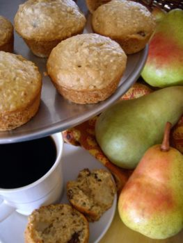 Pear Oatmeal Raisin Muffins