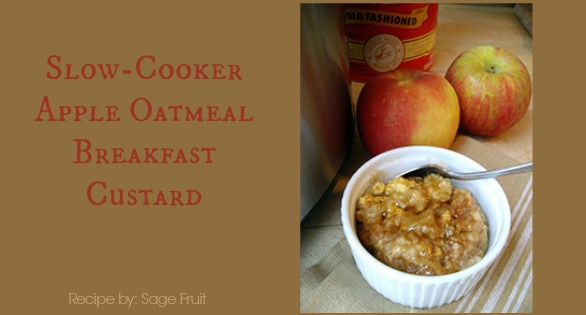 Apple Oatmeal Slow-Cooker Custard Breakfast