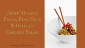 Tomato, Pesto, Pine Nuts, Grilled Chicken Salad