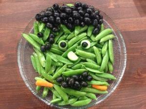 Frankenstein Party Tray | Easy Halloween Veggie Tray