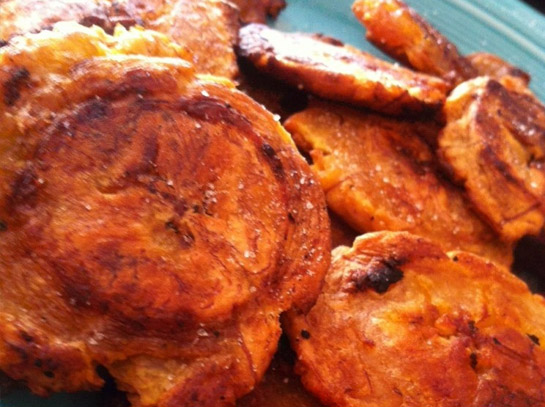 Tostones: Oven Baked Plantains