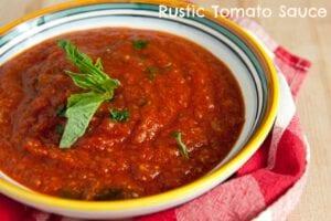Rustic Tomato Sauce | Homemade Tomato Sauce Recipe