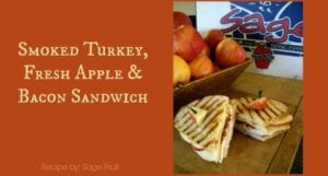 Apple, Smoked Turkey and Bacon Sandwich
