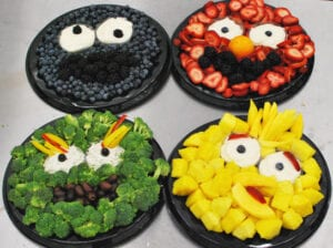 sesame street fruit trays