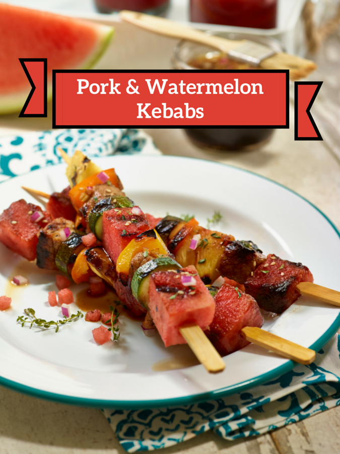 Pork & Watermelon Kebabs | Grilled Watermelon Recipe