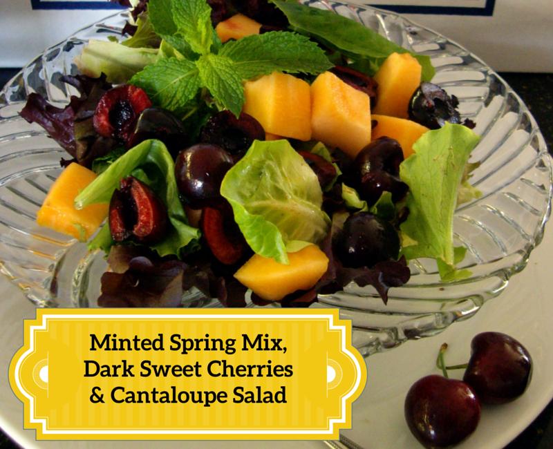 Minted Spring Mix, Dark Sweet Cherries & Cantaloupe Salad