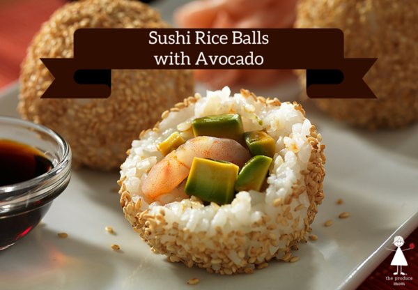 Sushi Rice Balls with Avocado