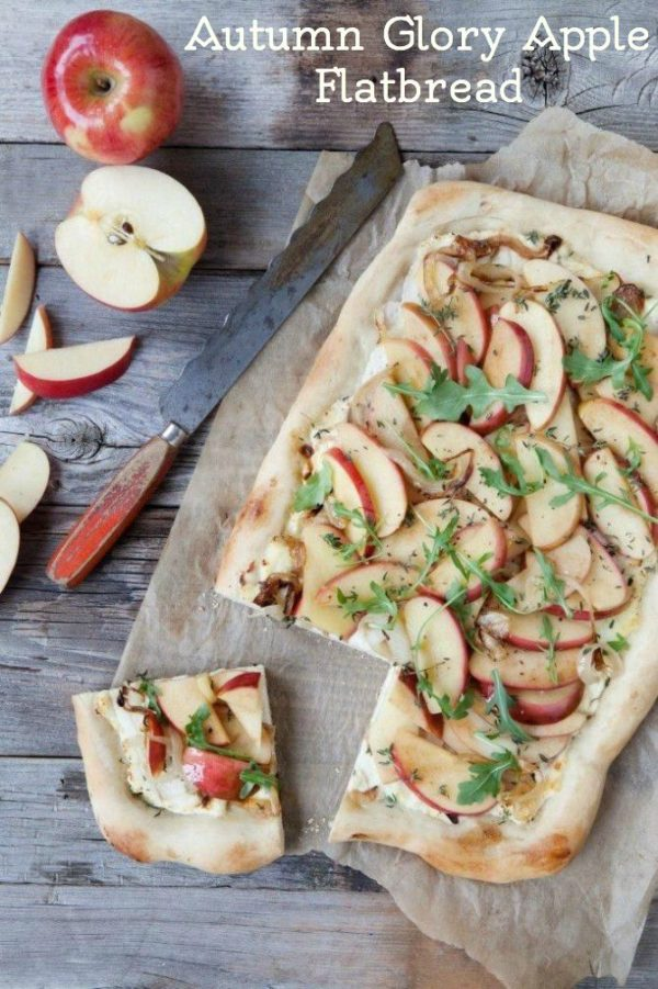 Autumn Glory Apple Flatbread with Caramelized Onions