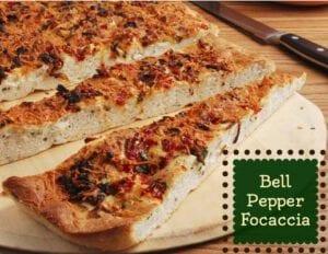 Bell Pepper Focaccia recipe