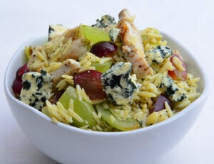 Grilled Chicken and Orzo Salad with Cotton Candy Grapes