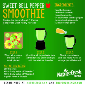 Nature Fresh Farms sweet bell pepper smoothie
