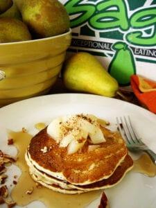 Pear Ricotta Pancakes