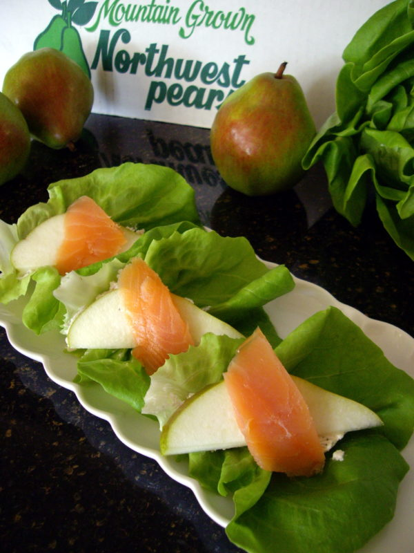 Pear and Salmon Lettuce Wraps