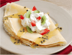 Strawberry and Kiwi Crepes