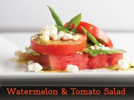 Watermelon & Tomato Salad
