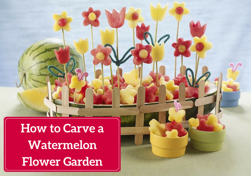 Watermelon Carving Tutorial: How carve watermelon flower garden