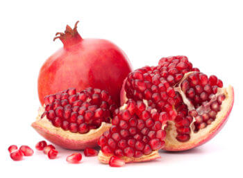 Opening a pomegranate