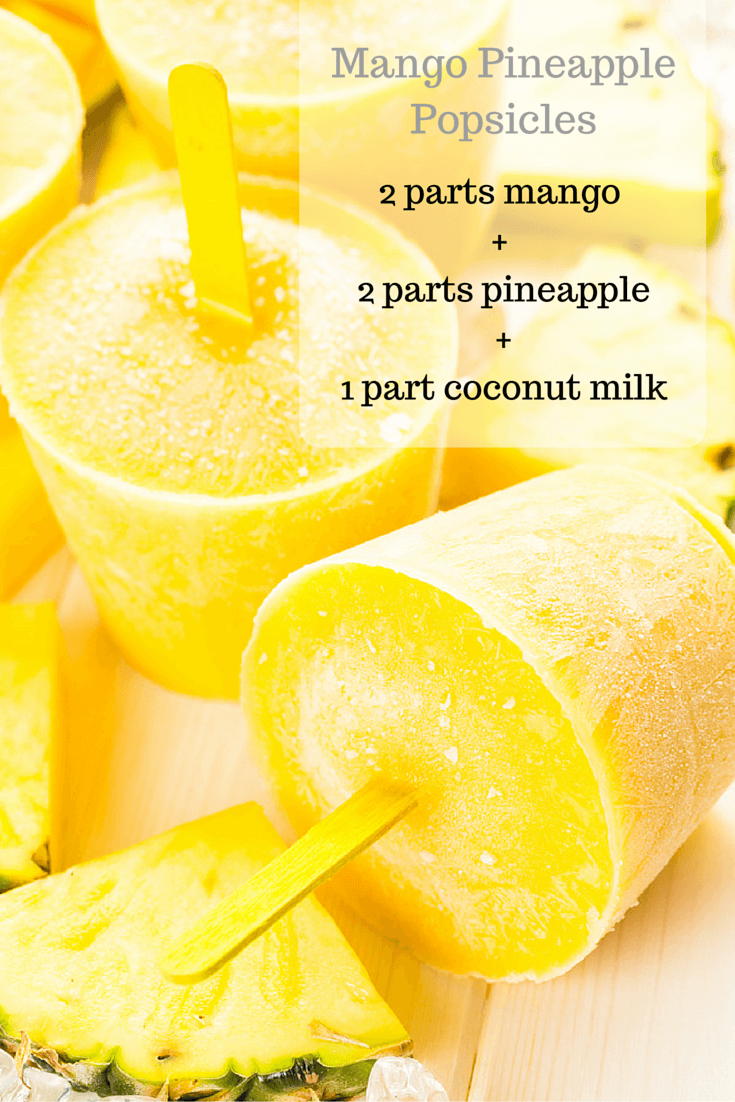 Homemade Mango-Pineapple Popsicles
