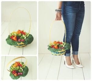 Easter Veggie Basket