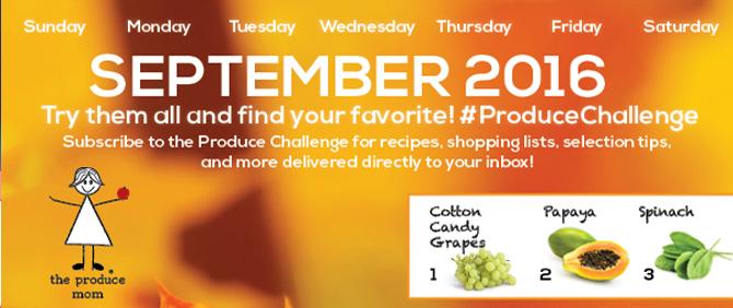 September 2016 Produce Challenge Calendar