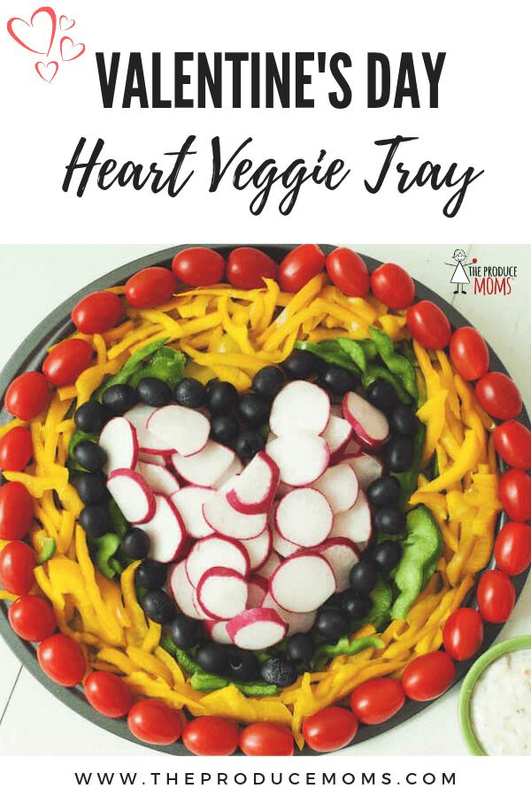 Valentine's Day Veggie Tray
