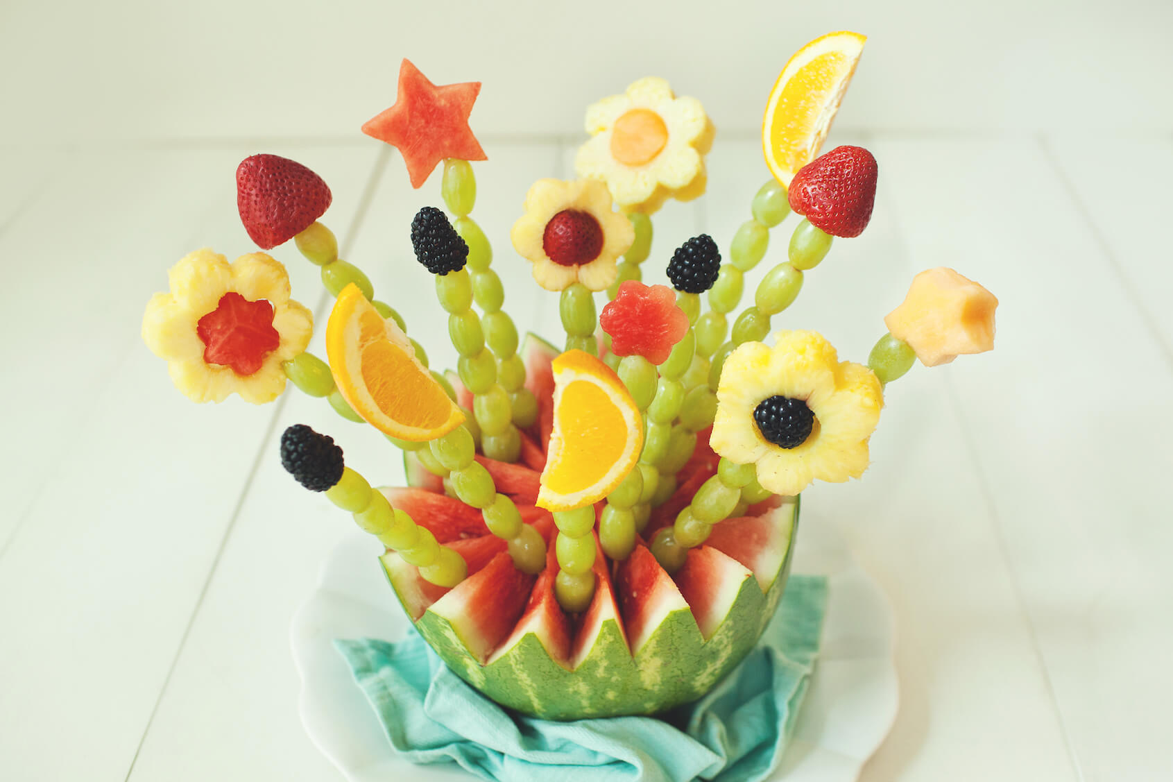 Mother's Day Blooming Fruit Basket