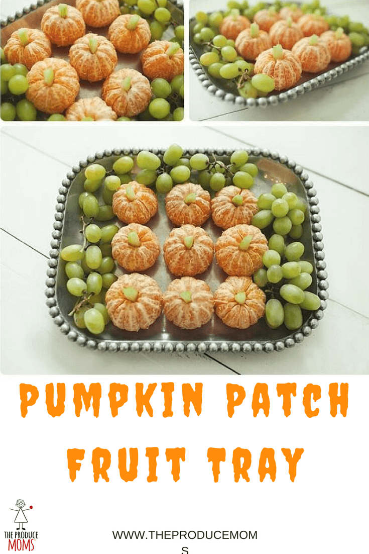 Pumpkin Patch Fruit Tray for Halloween
