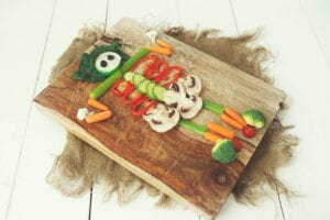 Skeleton Veggie Tray | Easy Halloween Party Tray - The Produce Mom