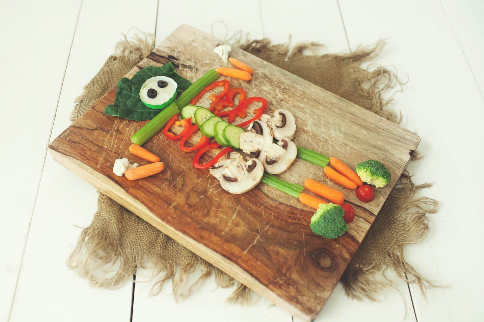 Skeleton Vegetable Tray for Halloween