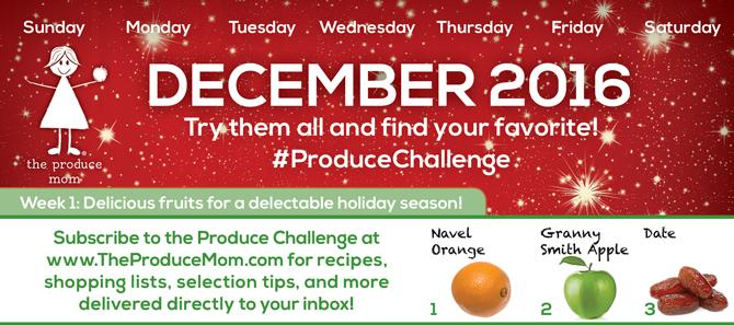 December 2016 Produce Challenge Calendar