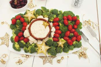 New Year's Veggie Tray