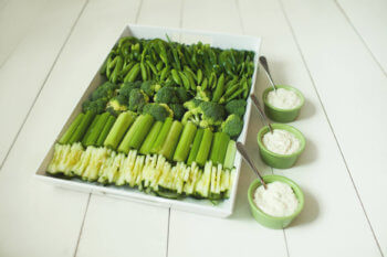 St Patrick's Day Vegetable Tray
