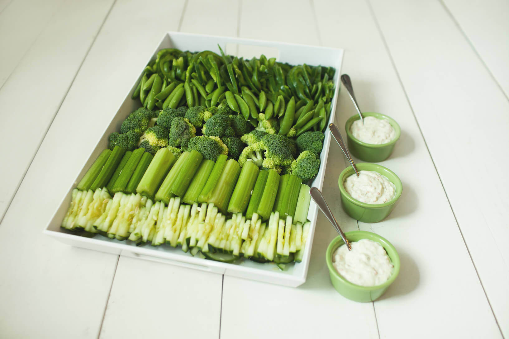 St. Patrick's Day Vegetable Tray