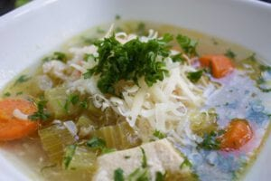 Celery Rice Chicken Soup