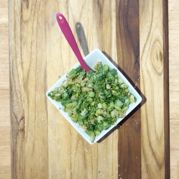 Raw Broccolini Sesame Salad