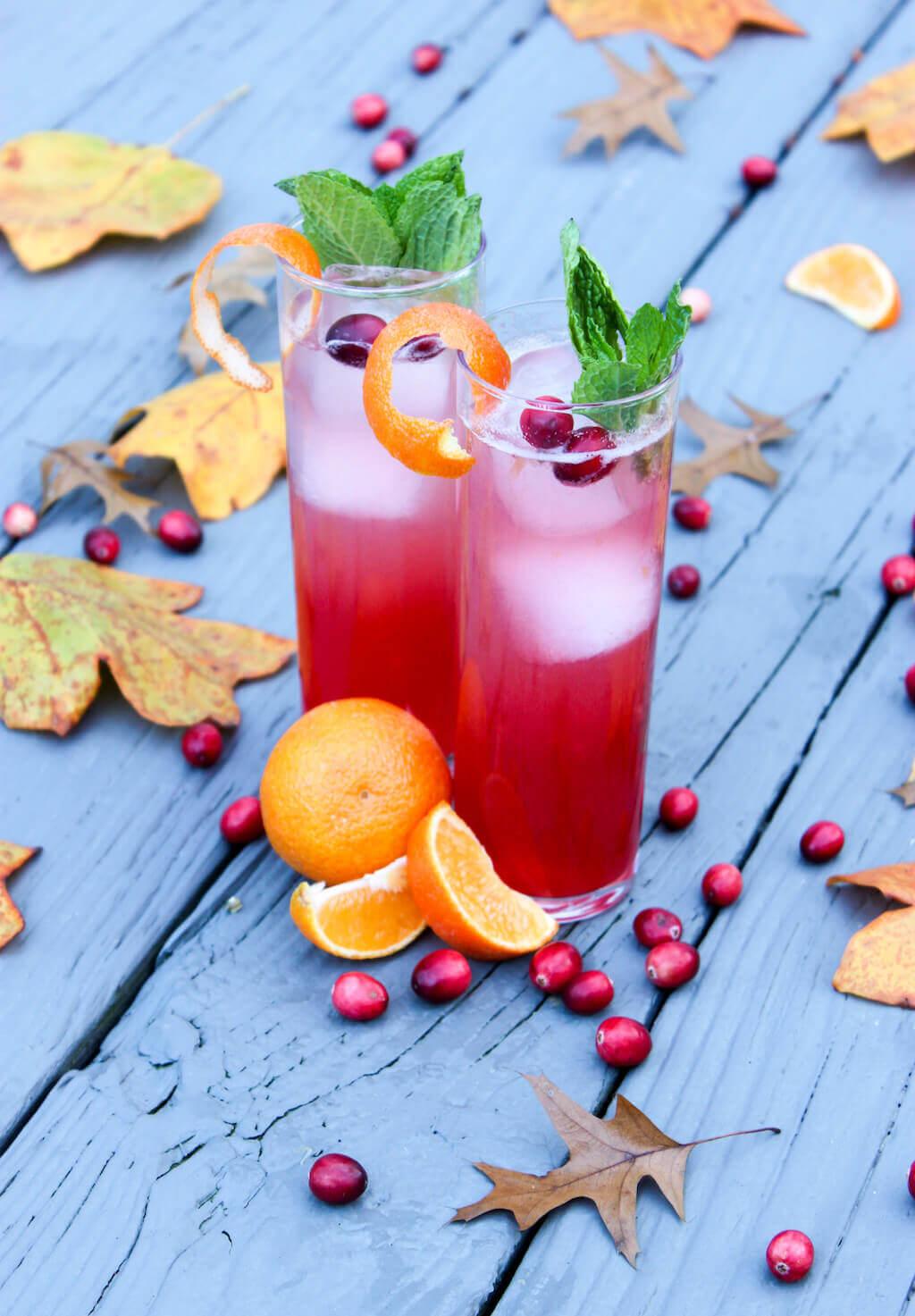 Cran-Orange Gin-Gin Mule | Holiday Cocktail Recipe