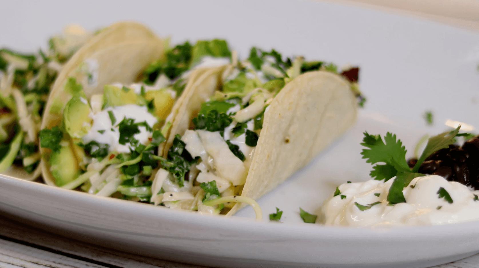 Sweet Kale Fish Tacos