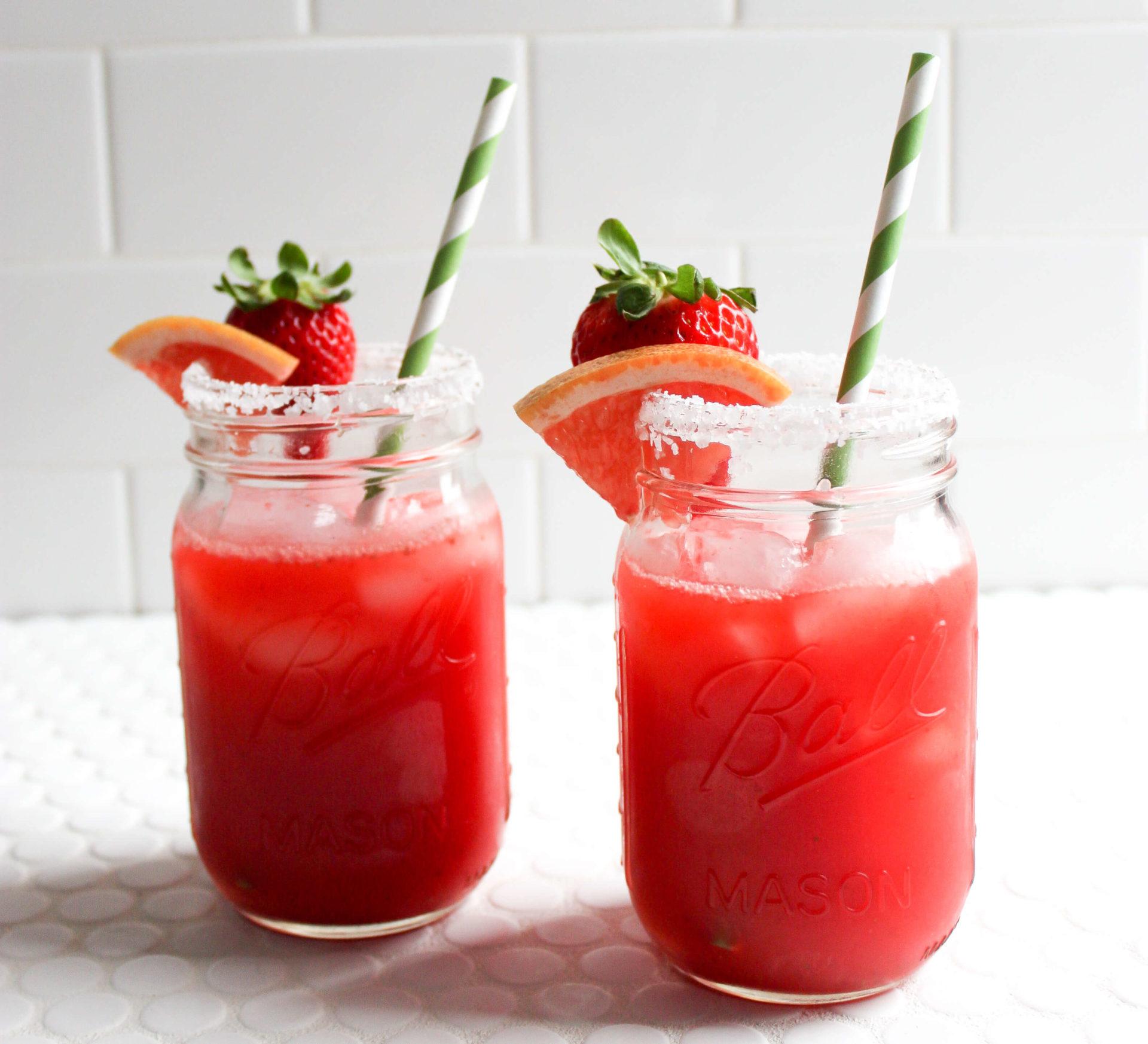 Strawberry Grapefruit Margaritas