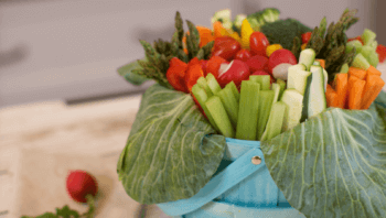 Veggie Easter Basket | Easter Vegetable Tray