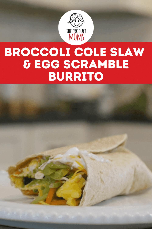 Broccoli Cole Slaw and Egg Scramble