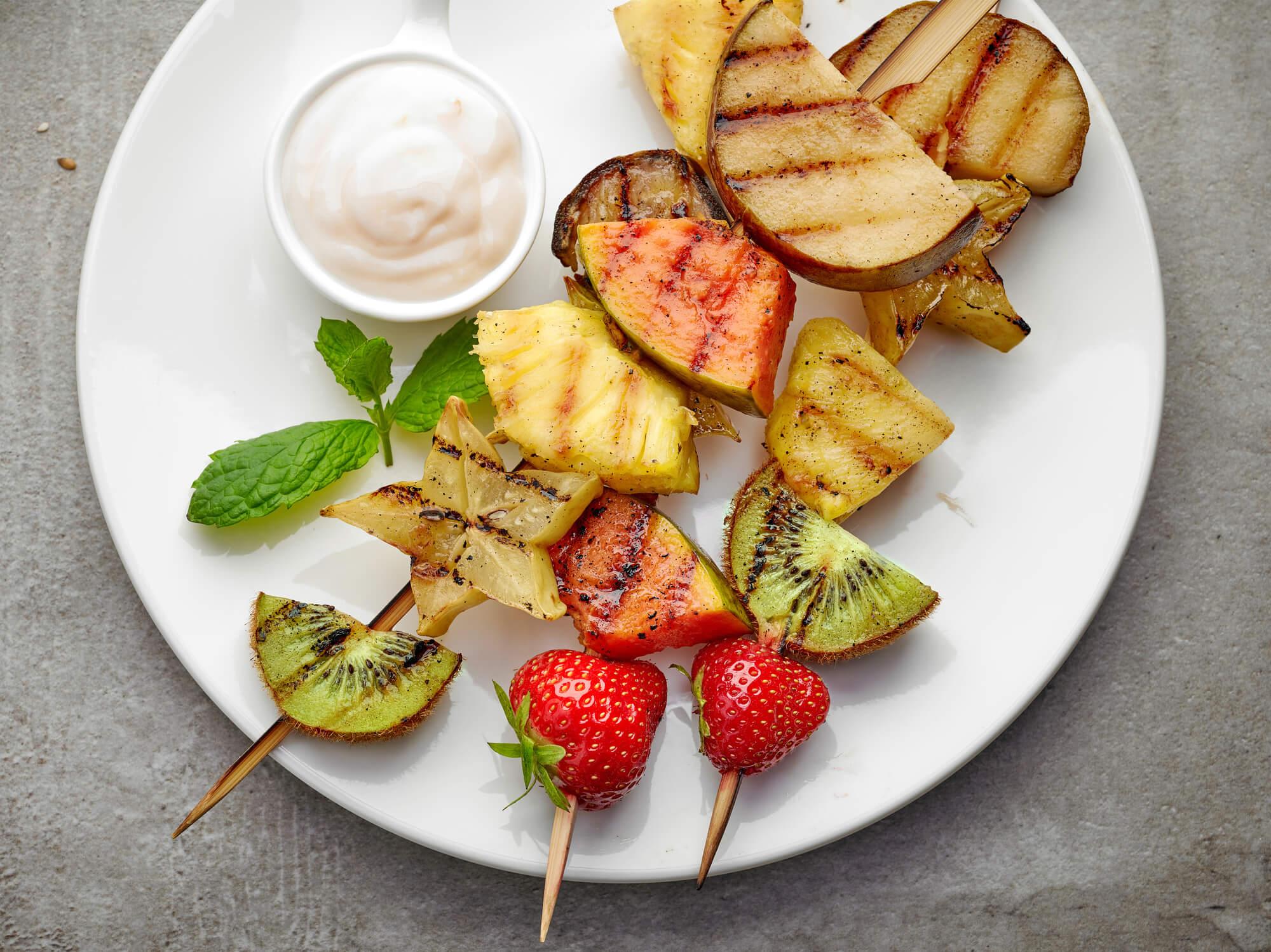 Grilled Fruit Kabobs + Tips for Grilling Fruit