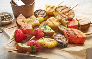 Grilled Fruti Kabobs + Tips for Grilling Fruit