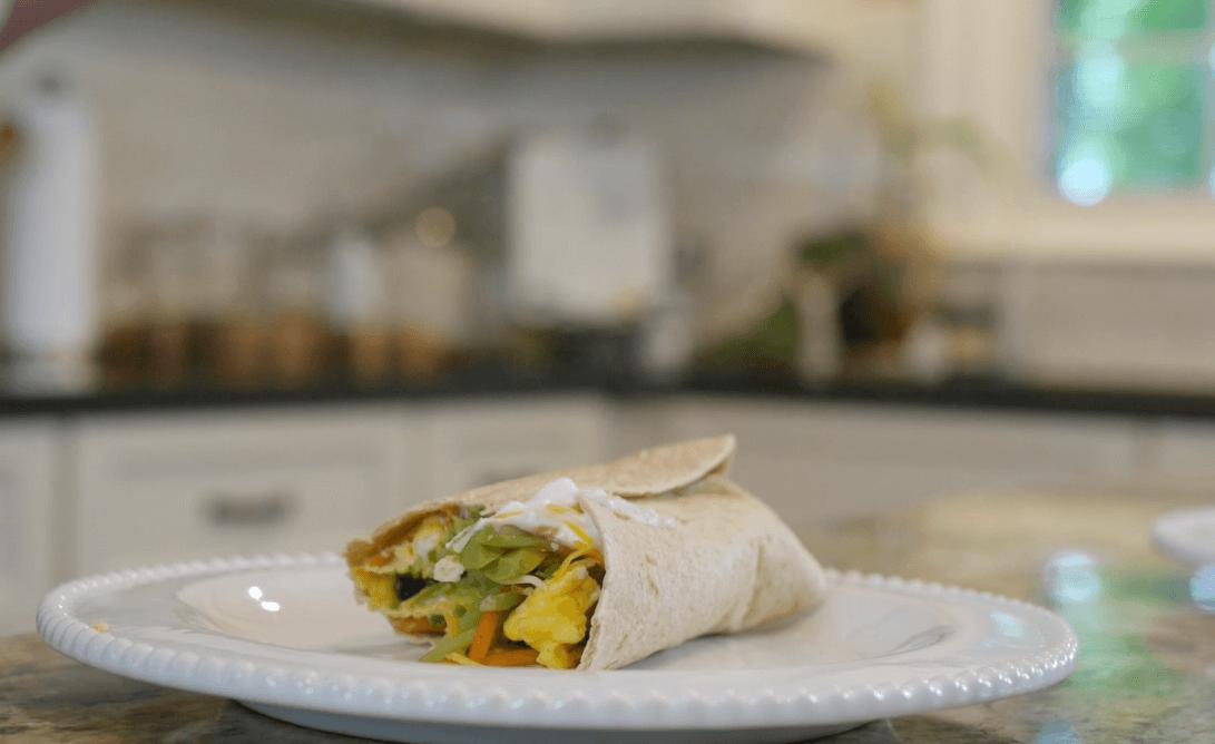 Broccoli Cole Slaw and Egg Scramble | Easy Breakfast Burrito