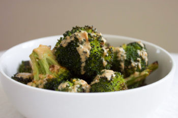 Roasted Broccoli with Tahini and Lemon
