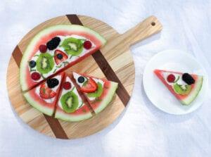 Watermelon Pizza | Fruit Pizza Recipe