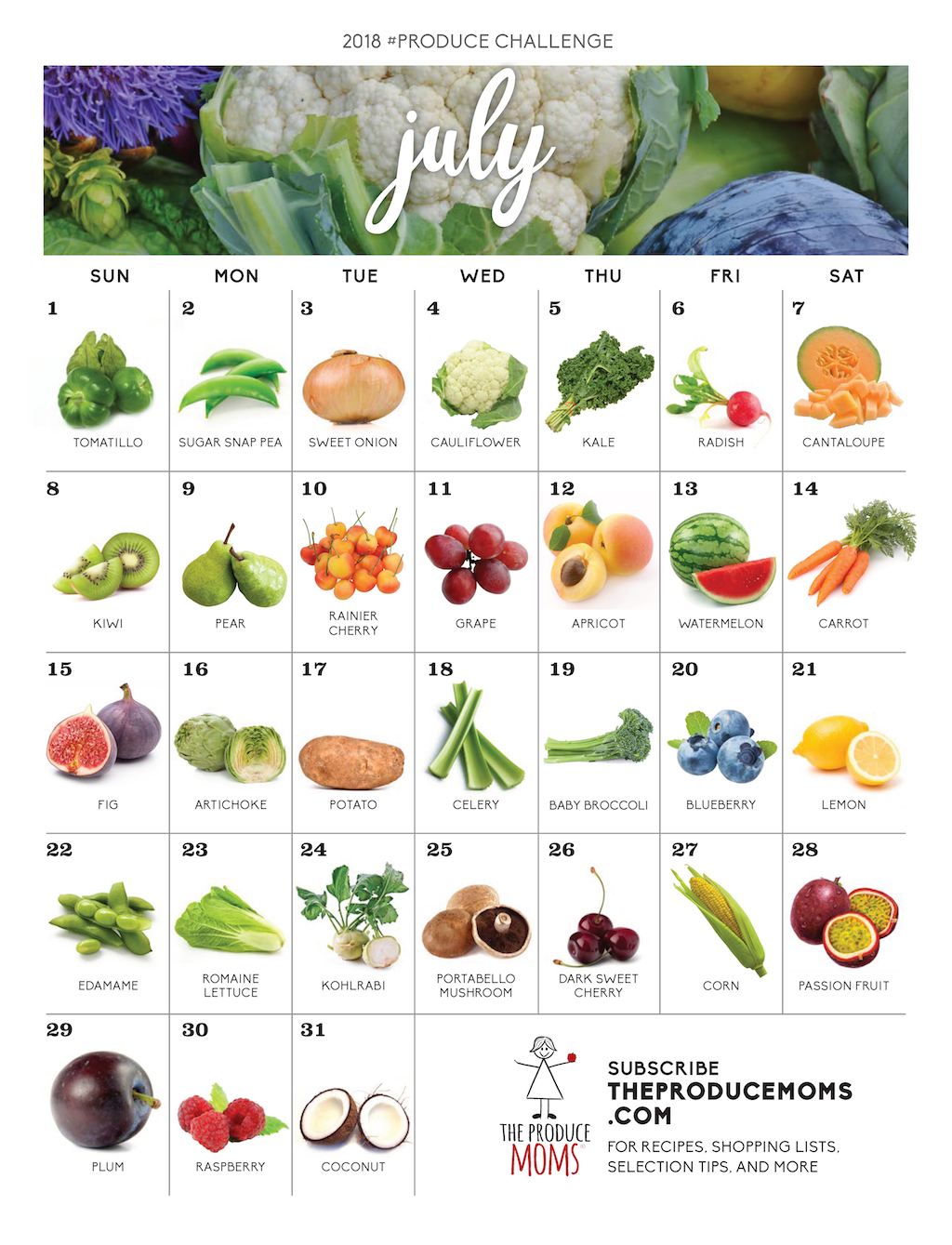 July 2018 Produce Challenge