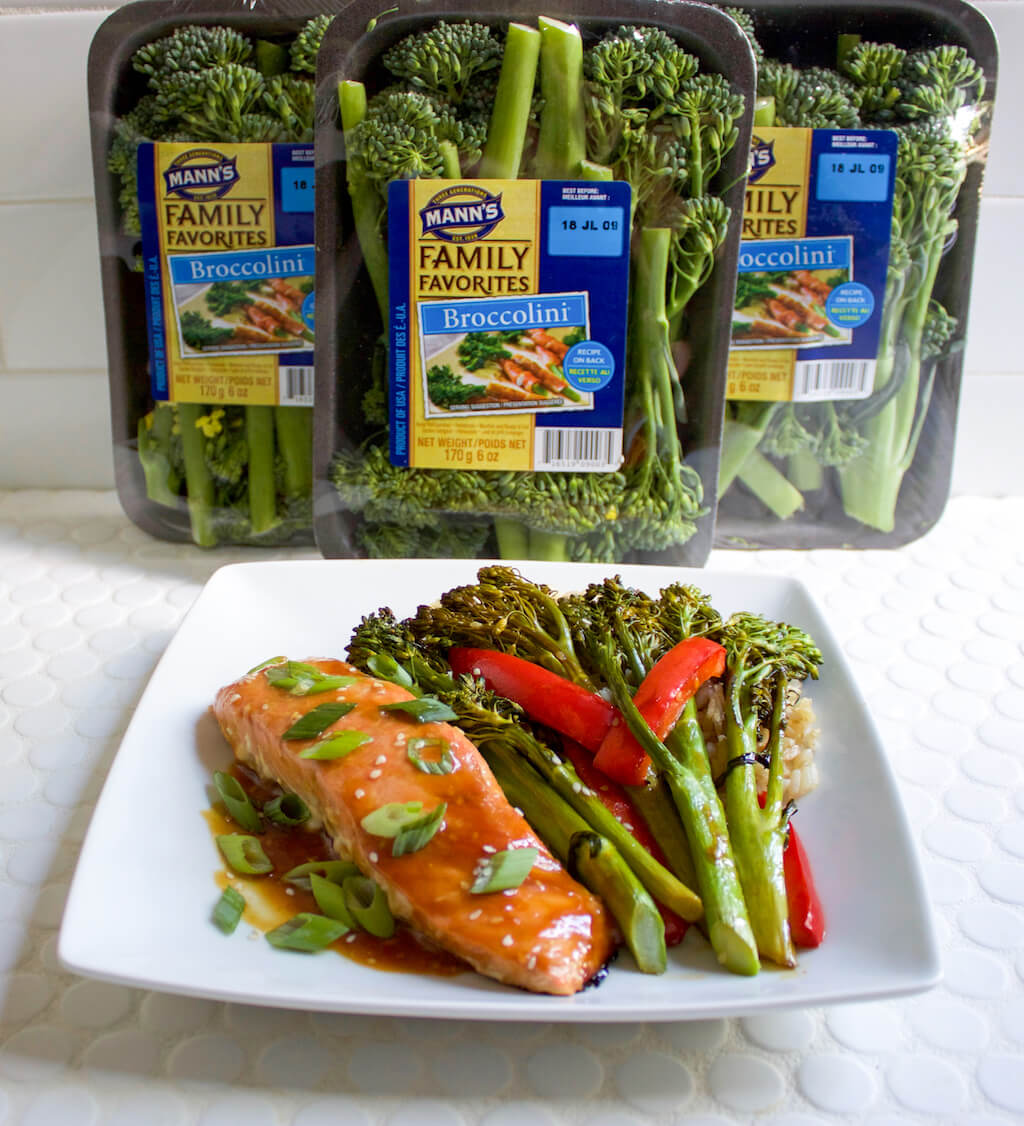 Baked Salmon and Sesame Glazed Broccolini Sheet Pan